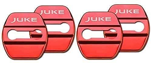 4 Stück Car Edelstahl Türschloss Abdeckung für Nissan Juke All Models, Rostschutz Türkantenschoner Dekoratives Styling Zubehör