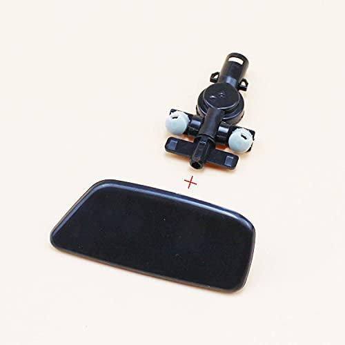 VNASKH Auto Styling Frontstoßstange Scheinwerfer Wassersprühdüse Abdeckung Scheinwerferwaschdüsenkappe mit Halter, für Subaru Forester 2009-2012