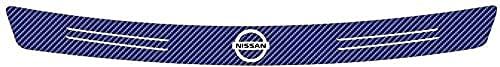 Auto Heckschutzplatte Für Nissan Nismo Tiida Teana Skyline Juke X-Trail Almera Qashqai, Kohlefaser Schutzleisten Scratch Abdeckung HeckstoßStangenschutz Kratzfeste