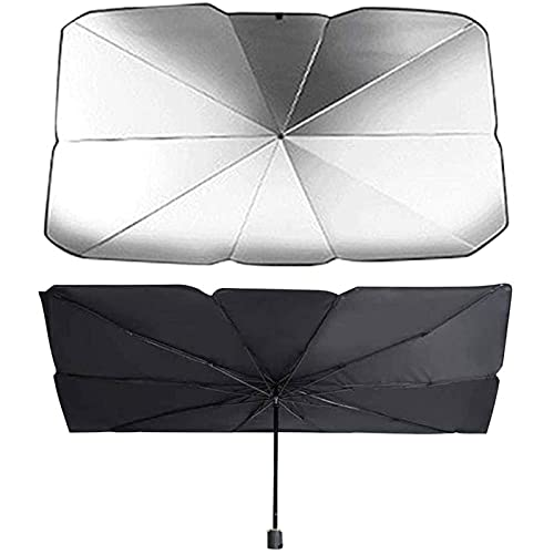 NsbsXs Für Subaru Forester 2014 2016 Outback Impreza Legacy XV, Auto Windschutzscheibe Sonnenschirm Regenschirm Sonnencreme Wärmeisolierender Faltbarer Sonnenschirm