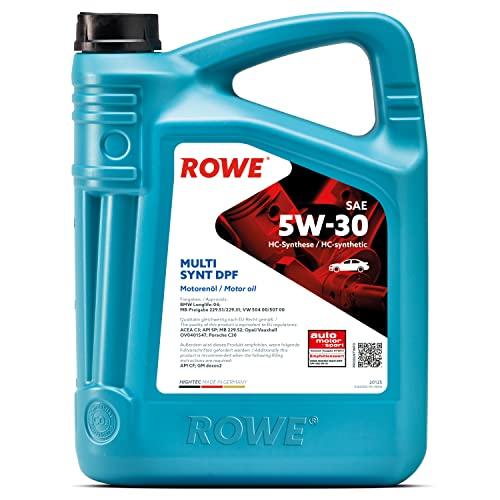 ROWE - 5 Liter HIGHTEC MULTI SYNT DPF SAE 5W-30 Motorenöl - für Diesel- und Benzinmotoren mit Turboaufladung