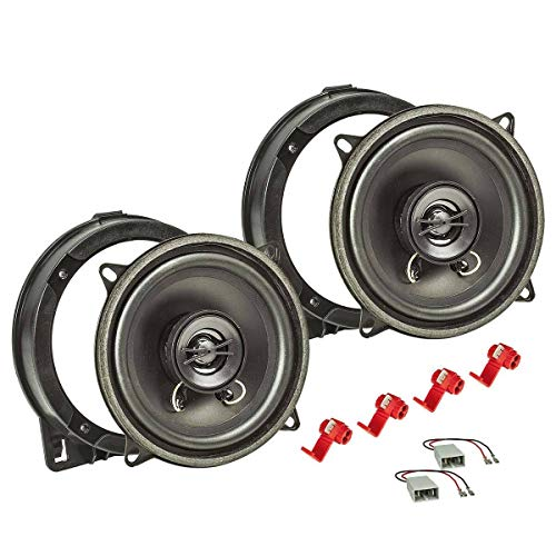 tomzz Audio 4017-001 Lautsprecher Einbau-Set passend für Honda Civic Jazz FR-V CR-V Tür vorne 130mm Koaxial System TA13.0-Pro