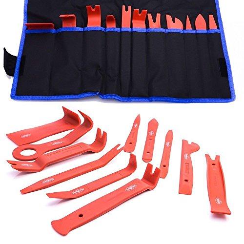 Toolzy 100001 11x Verkleidung Montage Demontage Keile Polsterung Zierleisten Keil Clip Löser