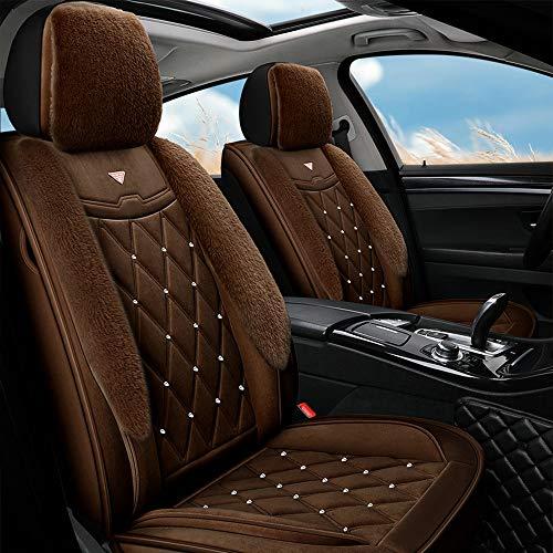 EIN kompletter Set von 5-Sitzer-Universal-kompatiblen Airbags, vorderen und hinteren atmungsaktiven hochwertigen, hochwertigen, komfortablen Schutzkissens mit hoher Qualität 0304 (Color : Brown)