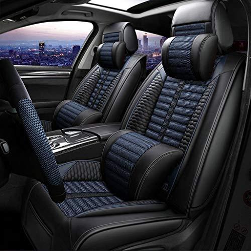 EIN kompletter Set von 5-Sitzer-Universal-kompatiblen Airbags, vorderen und hinteren atmungsaktiven hochwertigen, hochwertigen, komfortablen Schutzkissens mit hoher Qualität 0304 (Color : Blue)
