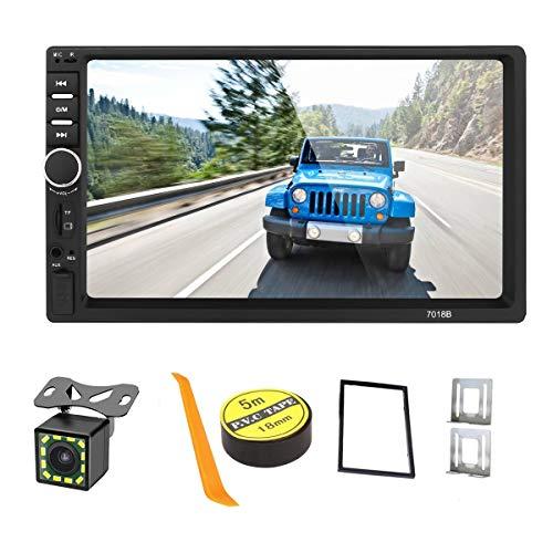 Autoradio mit 2 DIN-Autoradios, mit Bluetooth, 17,8 cm (7 Zoll) kapazitiver Touchscreen, Autoradio im Armaturenbrett, mit Rückfahrkamera, Video-MP5-Player, Radio FM