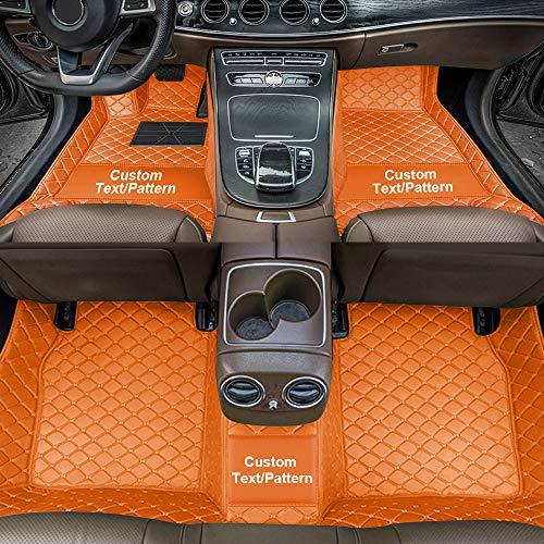 Dinuoda Automatten eignen Sich für 98% der Automodelle, die von Einer rutschfesten XPE-Leder-Teppichfutter-Auto-Anti-Rutsch-Matte umgeben sind Matten & Teppiche/Fußmatten Orange