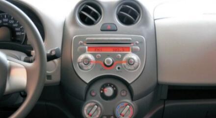 vor der Installation von Nissan March Radio